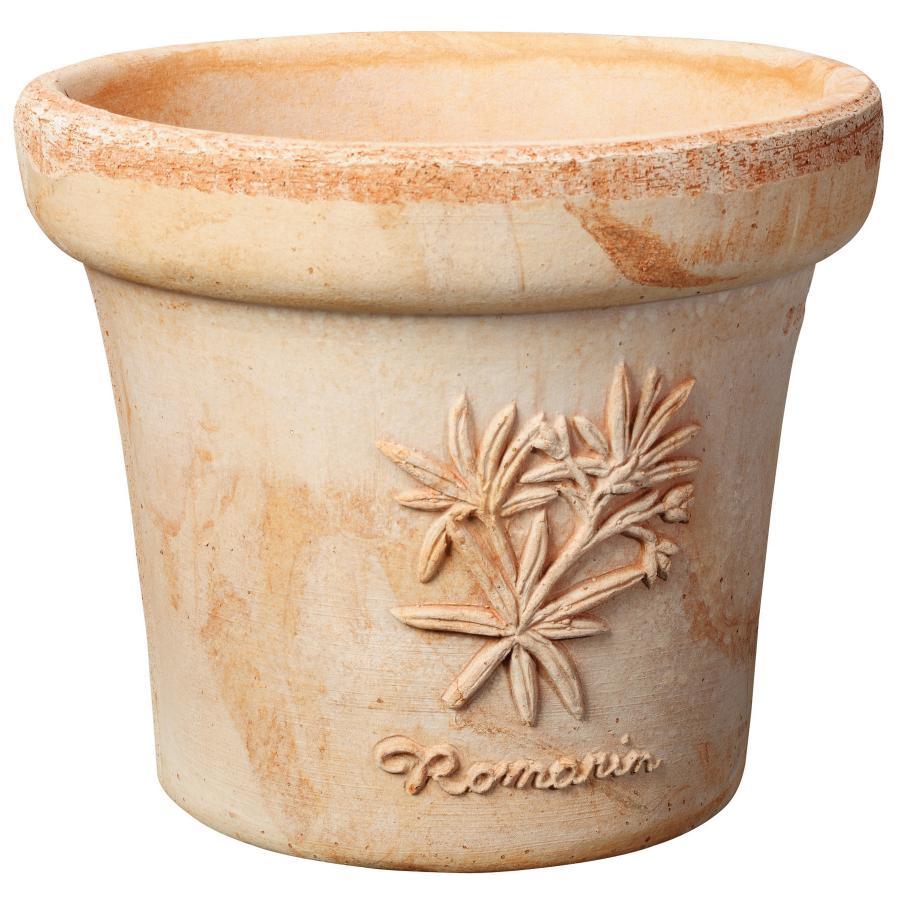 кръгла керамична саксия Les Aromates от италианска глина