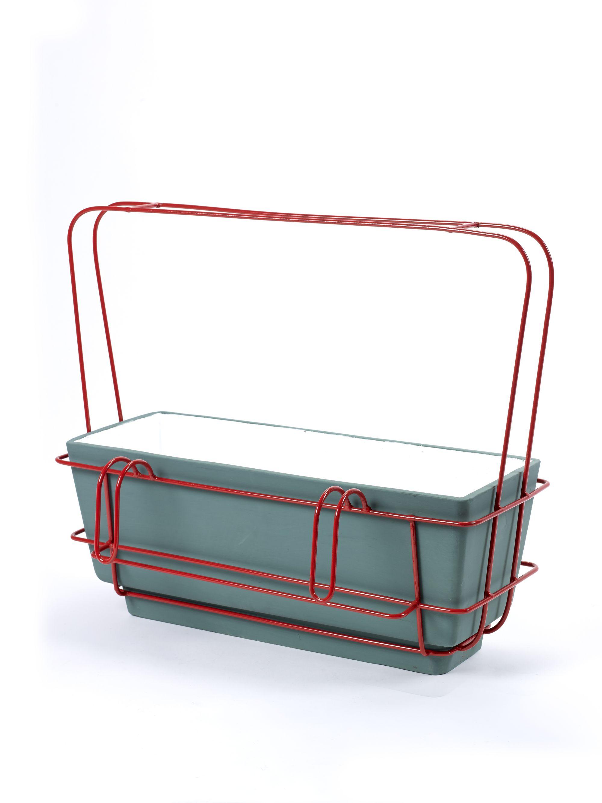 Керамично сандъче с метален държач от navun.bg