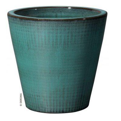 Глазирана керамична саксия Aquamarinа