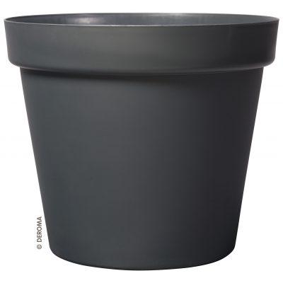 Италианска пластмасова саксия Deroma Vaso Grande Anthracite