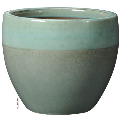 Овална качествена керамична саксия от глазирана теракота Vaso Mystery