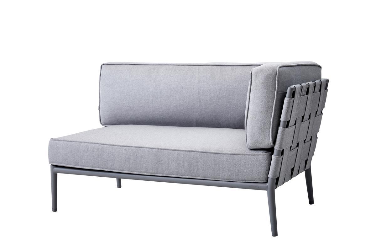 Градински диван Conic, двуместен, ляв модул