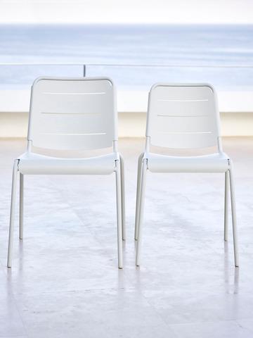 Екстериорен стол Навън Copenhagen бял група