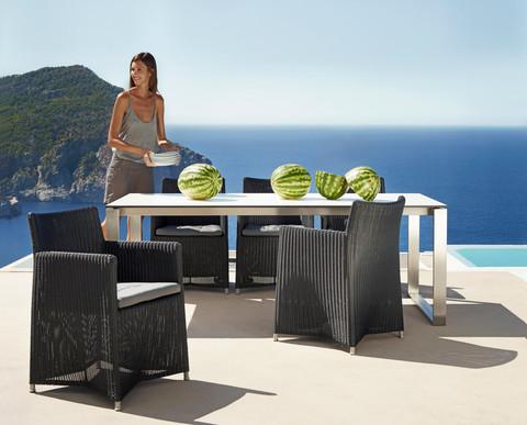 Плетен градински стол от колекция мебели DIAMOND от navun.bg