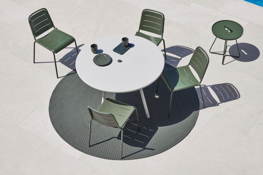 Градински малък стол COPENHAGEN в четири цвята от navun.bg