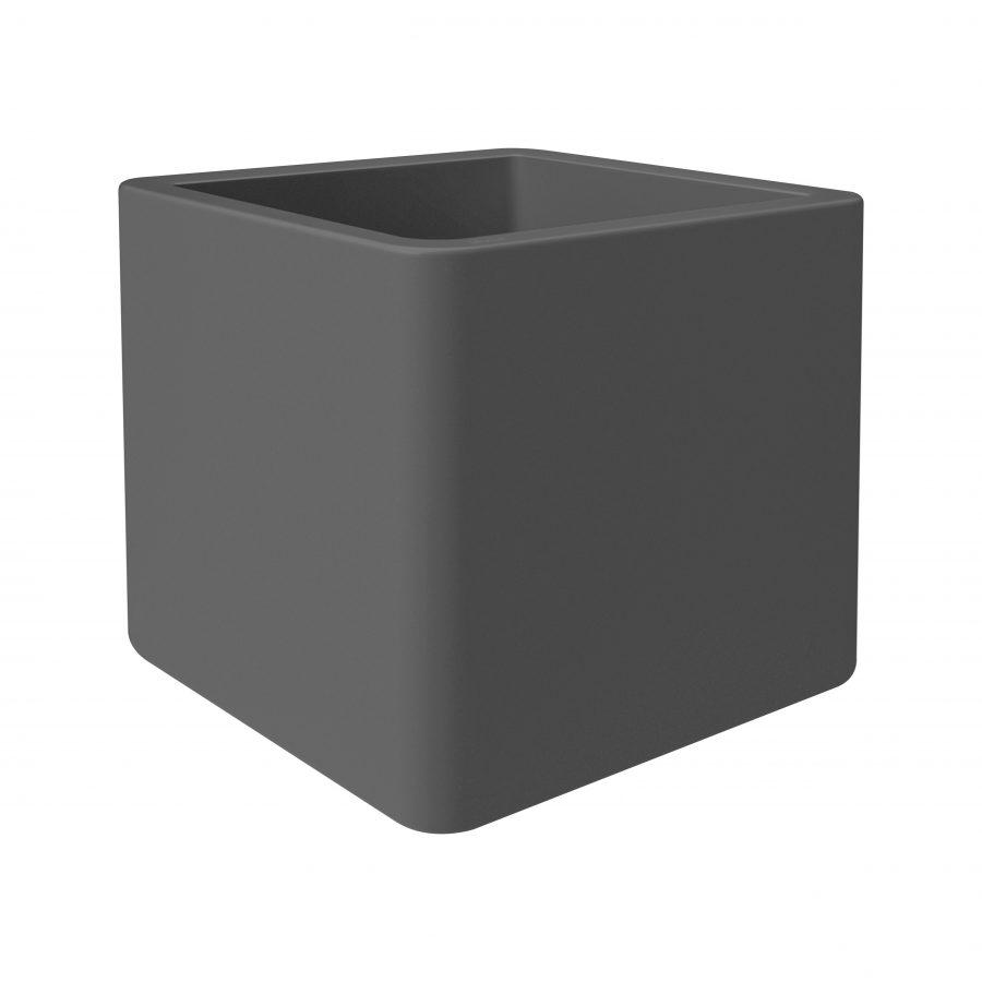 Пластмасова саксия Pure Soft brick, антрацит