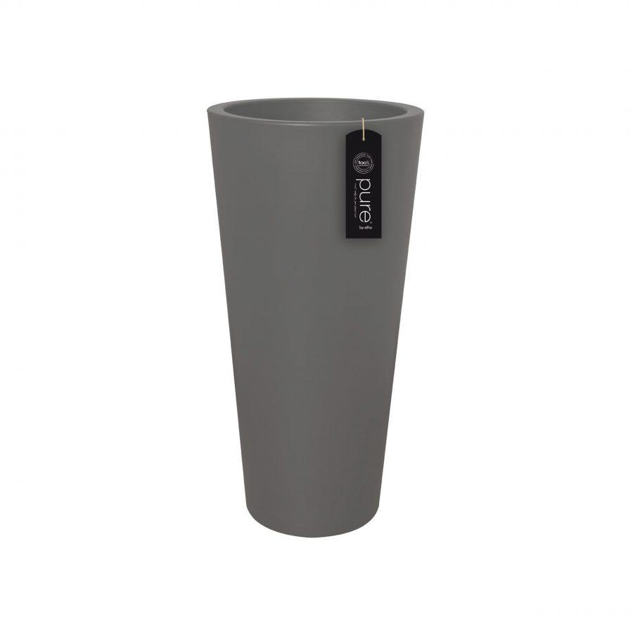 Пластмасова висока саксия PURE STRAIGHT ROUND от navun.bg