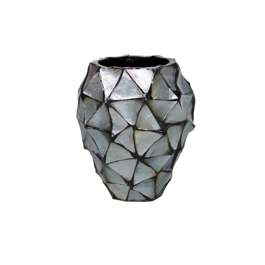 Дизайнерска саксия ваза shell dark