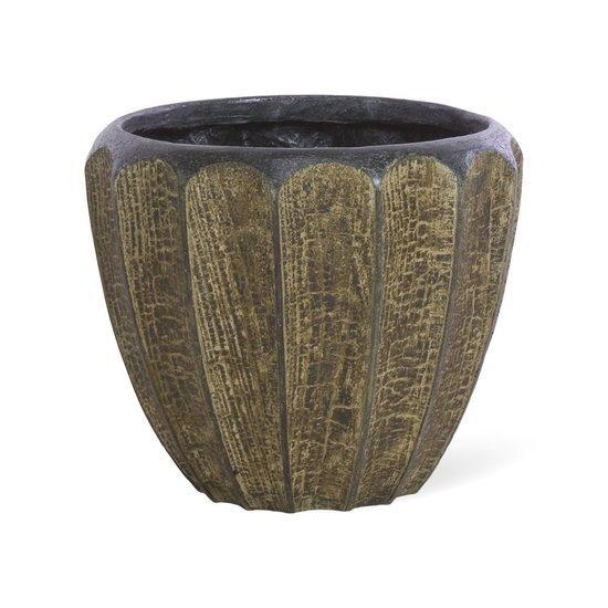 Дизайнерска купа саксия Firewood, navun.bg