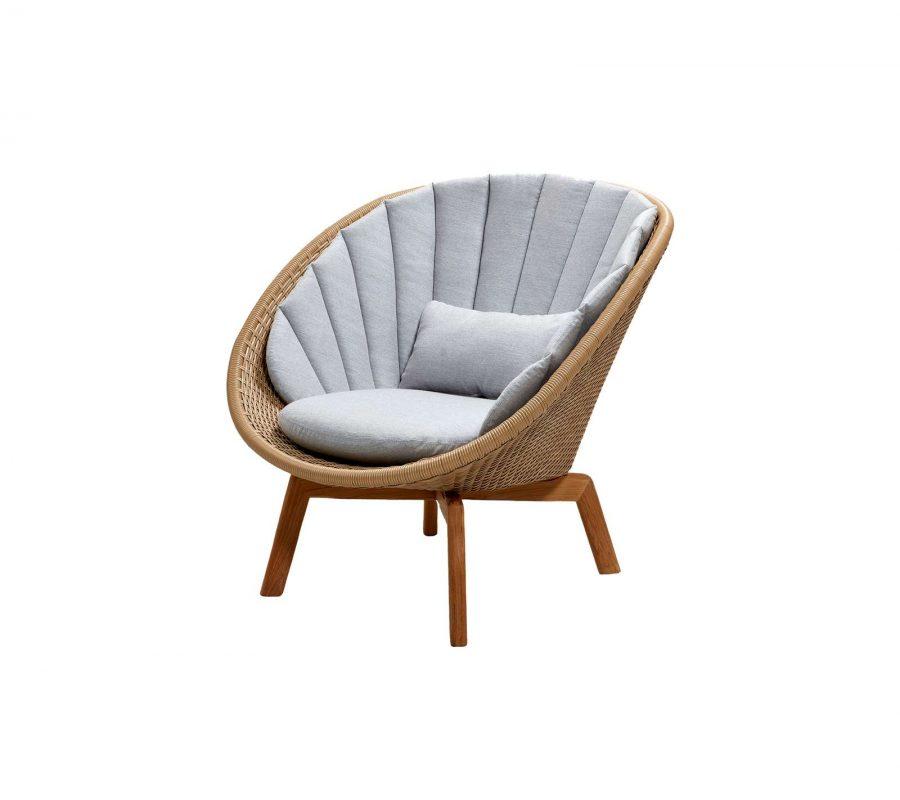 Градинско кресло Peacock, натурално