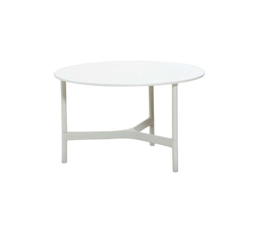 Градинска маса Twist от алуминий, white