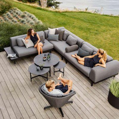 Градински мебели Space, тъмно сив