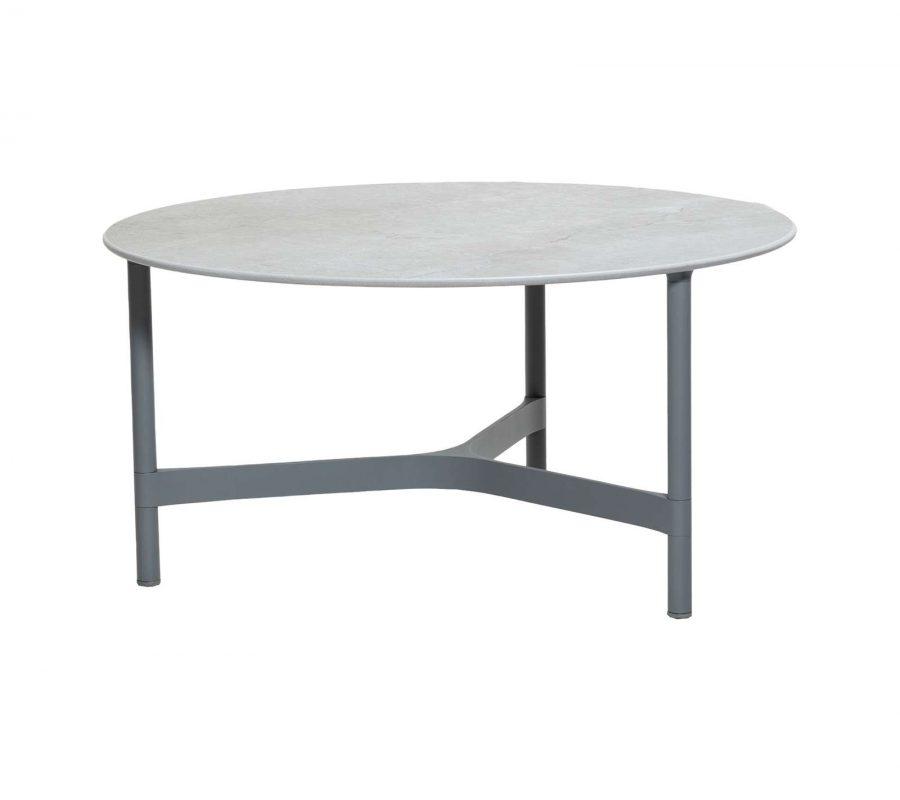 Градинска маса Twist от алуминий, light grey