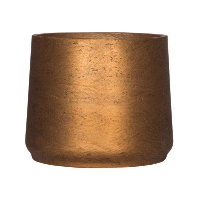Декоративна кашпа Patt от фиброглина, меден цвят