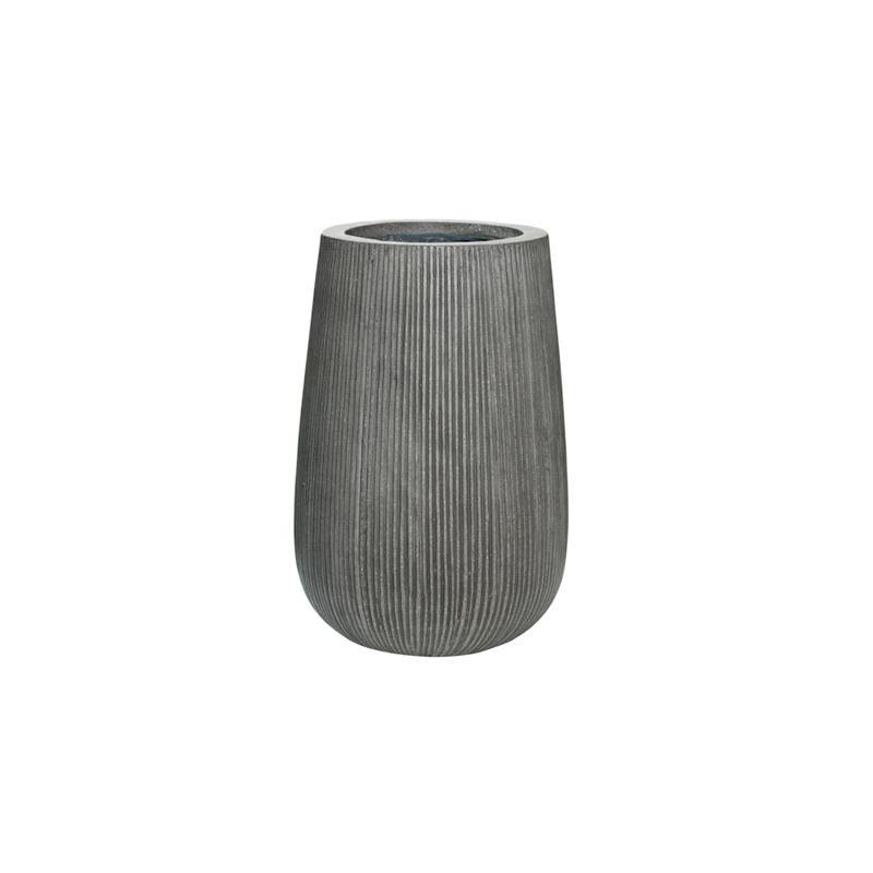 Декоративна кашпа от фиброглина Patt от navun.bg, сиво