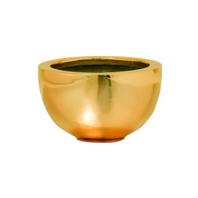 Декоративна кашпа купа Peter, златиста