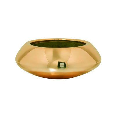 Декоративна кашпа купа Tara, златиста