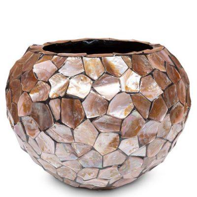 Дизайнерска саксия с мидени черупки от navun