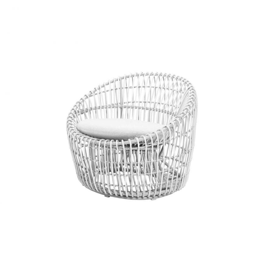 Градински стол Nest бял