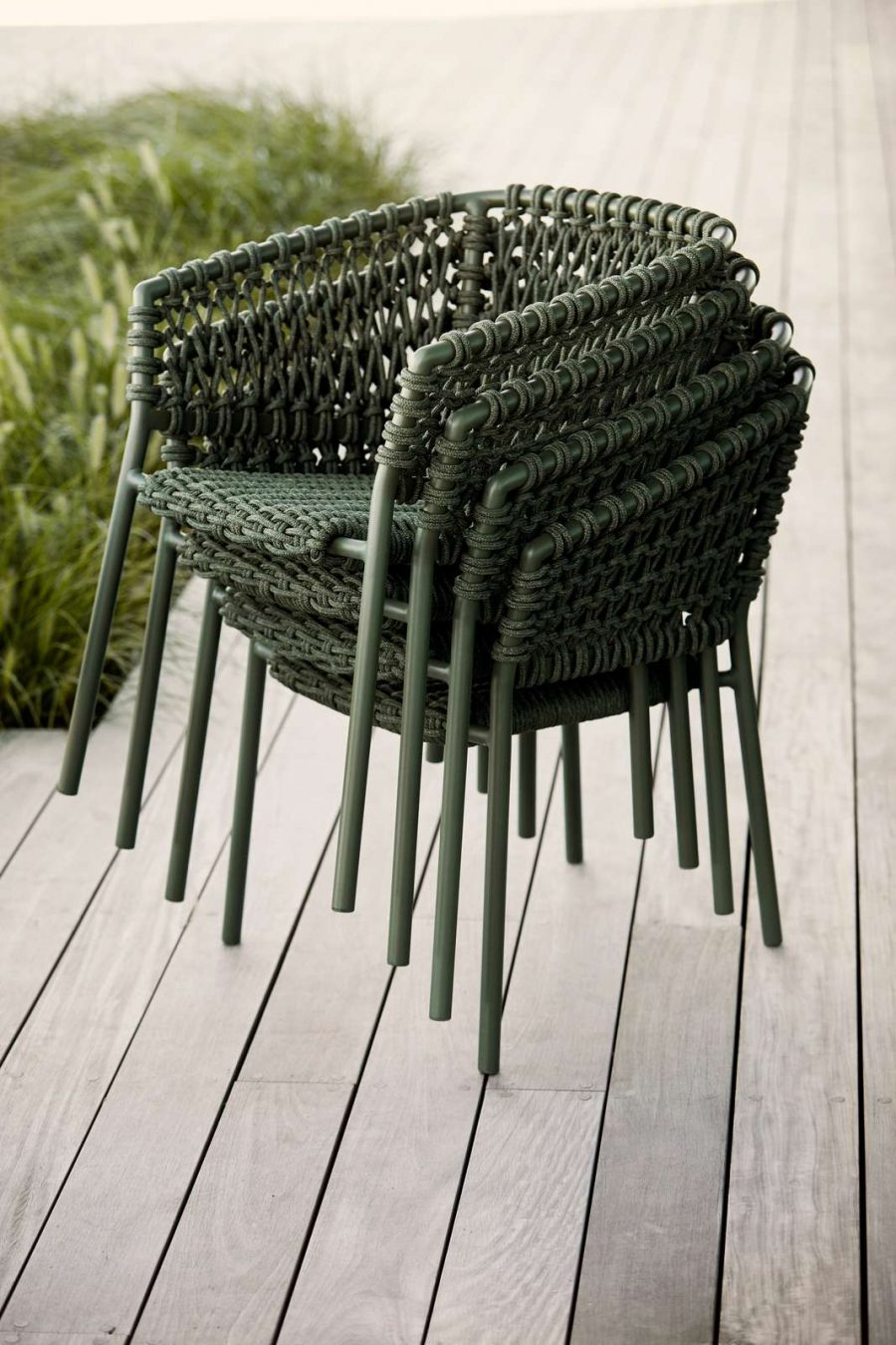Градински стол Ocean, зелен