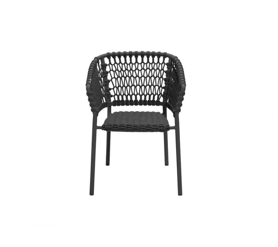 Градински стол Ocean, тъмно сив, без възглавници