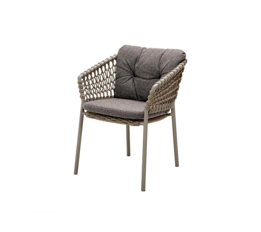 Градински стол Ocean, taupe с възглавниви тъмно сиво