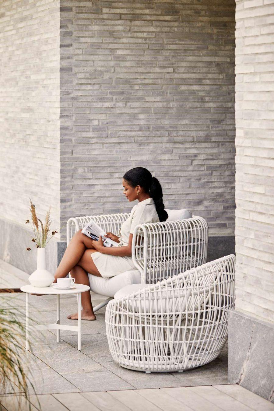 Градинско кресло Nest бяло