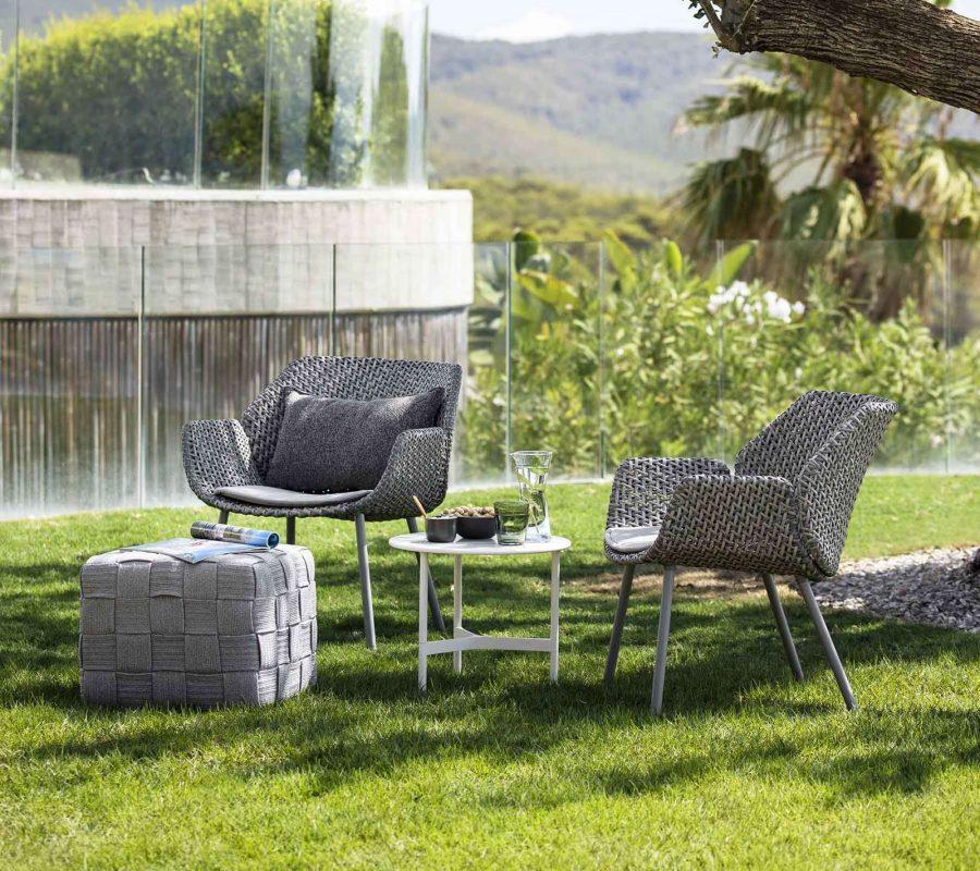 Градинско кресло Vibe от наплетено влакно