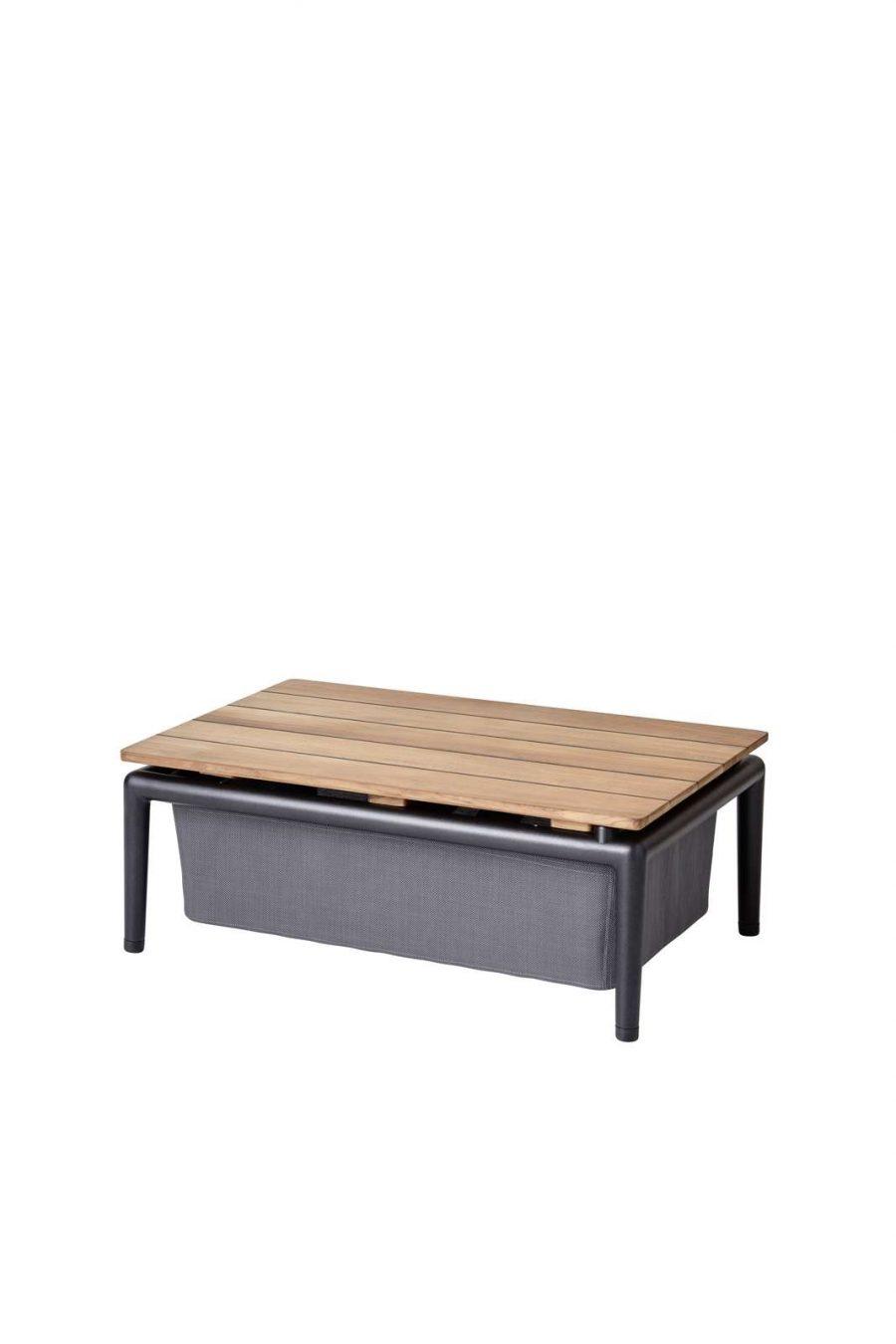 Дизайнерска помощна маса Conic от тик и алуминий от navun.bg
