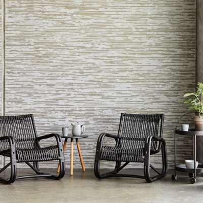 Градински стол от прахово боядисан алуминий Curve