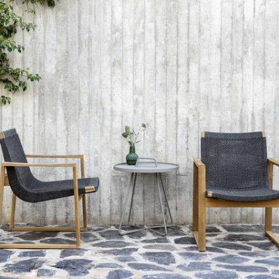 Дизайнерски градински стол от тиково дърво и наплетено въже от navun.bg