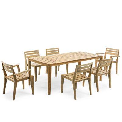 Градински столове и маса Ribot от тиково дърво