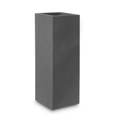 Дизайнерска саксия колона Level, черна