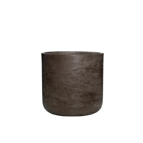 Дизайнерска саксия Charlie от фиброкамък, шоколад