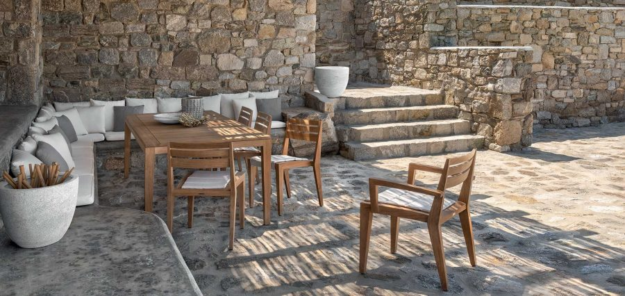Градински мебели Ribot от тиково дърво
