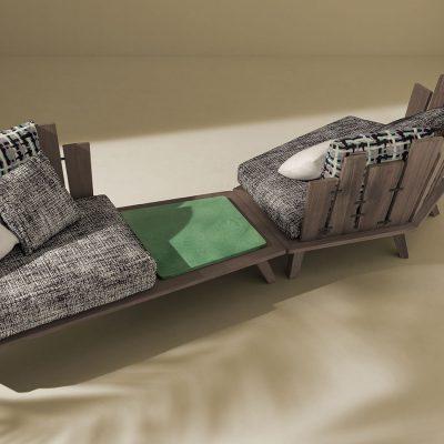 Градинско кресло Rafael, тиково дърво, италиански дизайнерски колекции