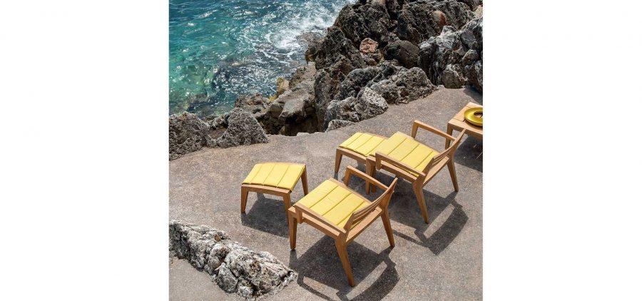 Градинско кресло Ribot от тиково дърво