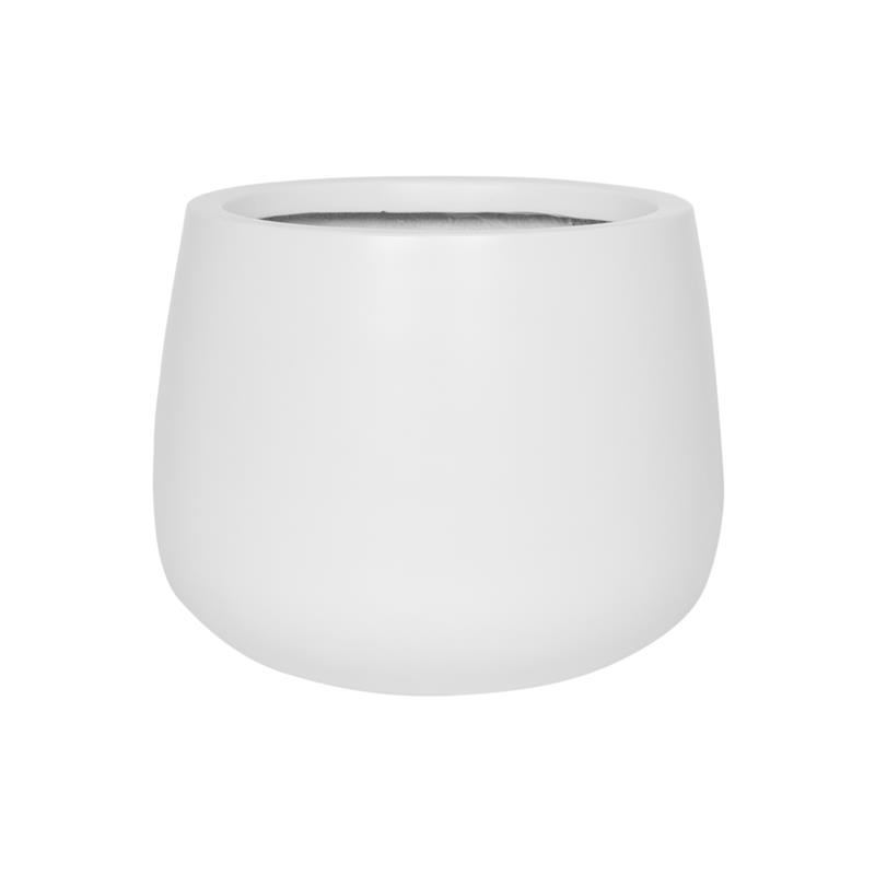 Декоративна купа Kevan от фиброкамък, бяла