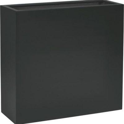 Дизайнерска саксия Shape divider, черна
