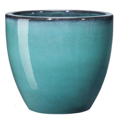 Глазирана керамична саксия Azulis, aqua