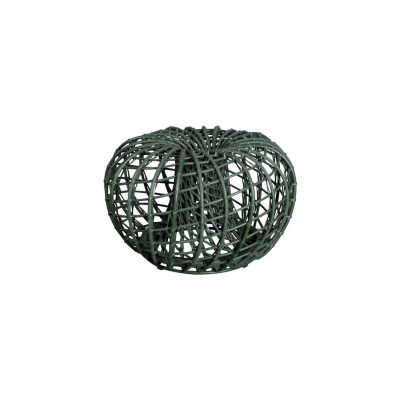 Градинска малка табуретка Nest, тъмно зелена