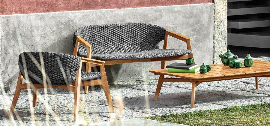 Градинска маса за кафе Knit