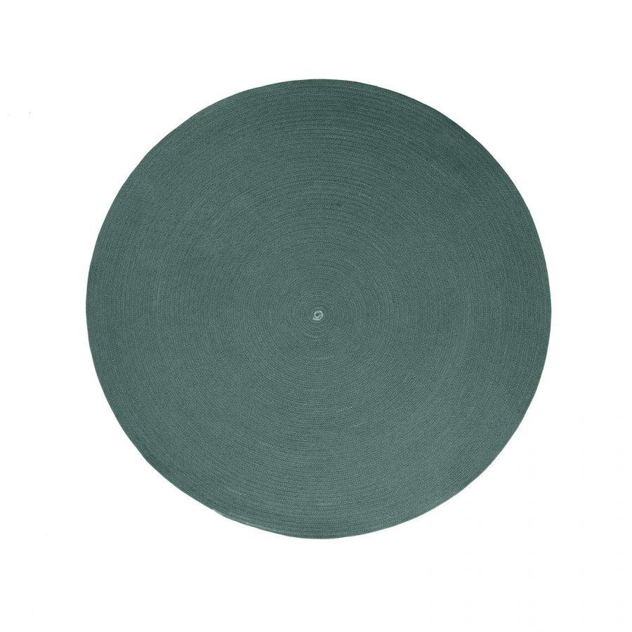 Градински килим Circle, тъмно зелен