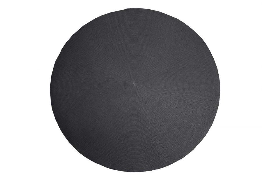 Градински килим Circle, тъмно сив