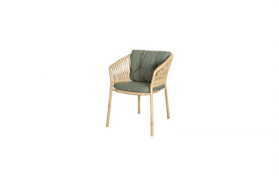 Градински стол Ocean, алуминий, зелена възглавница