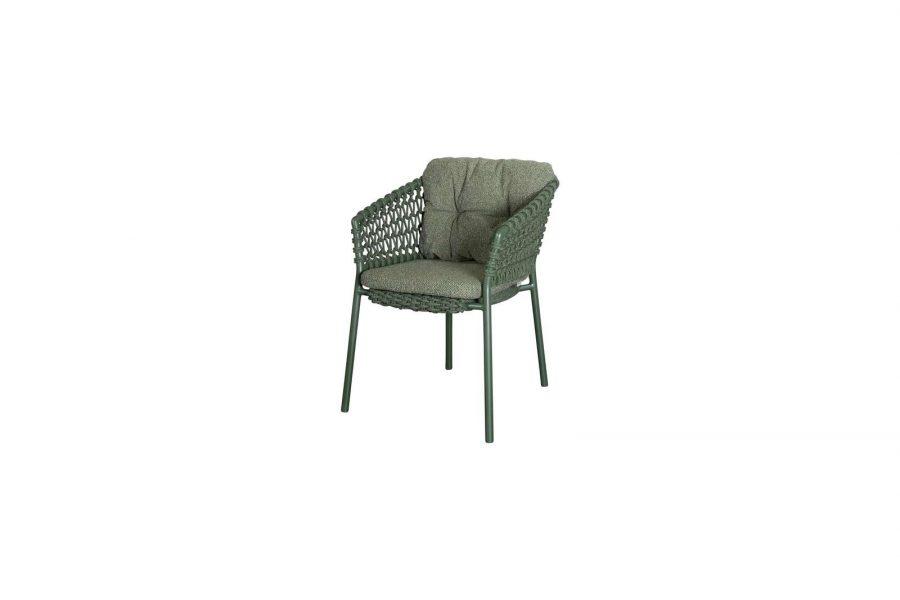 Градински стол Ocean, зелен, възглавница зелена