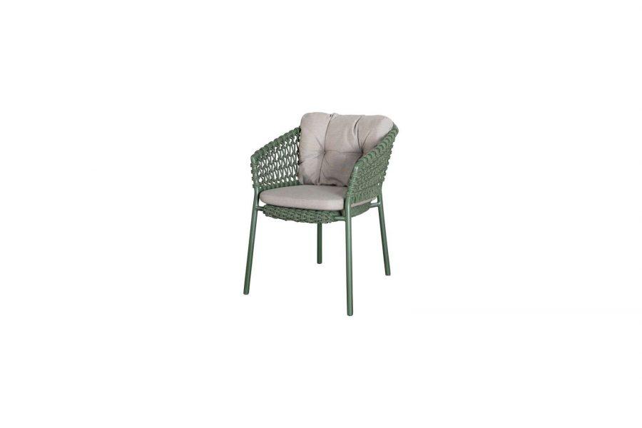 Градински стол Ocean, зелен, възглавница таупе