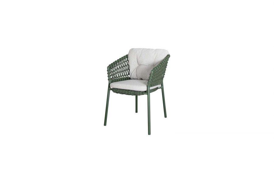 Градински стол Ocean, зелен, възглавница light brown