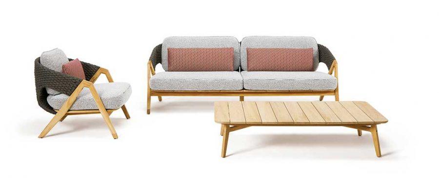 Градински триместен диван Knit