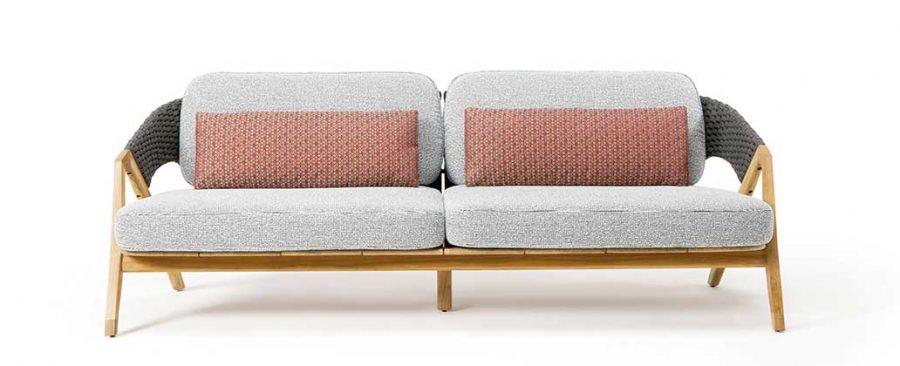 Градински триместен диван Knit 2